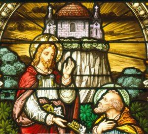 Christus en St. Petrus