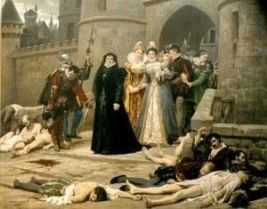Catherina de Medici en de slachting van de huguenoten
