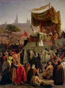 St. Bernardus van Clairvaux predikt de kruistochten