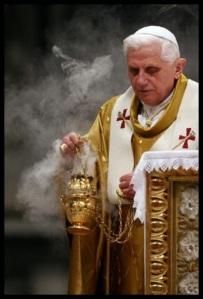 Traditionelel liturgie met incens