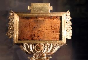 Het INRI opschrift van het Heilig Kruis