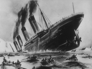 De Titanic zinkt